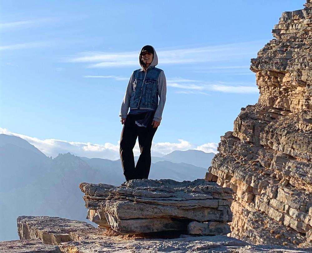 En la montaña de Yanas, Emiratos Árabes Unidos.