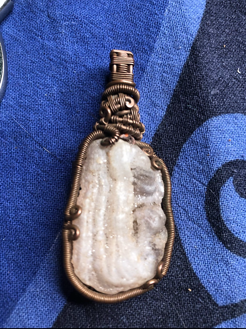 Copper Wrapped Pendant