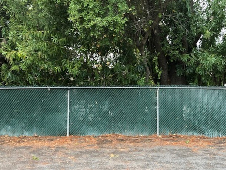 Slats for West Chain Link Fence - Completed