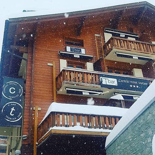 Central Hotel Verbier Facade Snowing.jpg