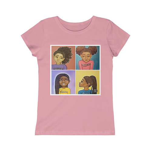 """Beautiful, Smart, Innovative, Creative"" Girls Princess Tee"