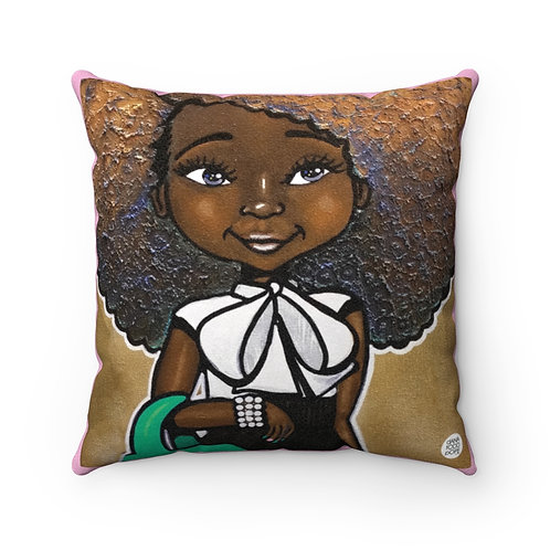 Fashionista (Pink & Green) Square Pillow