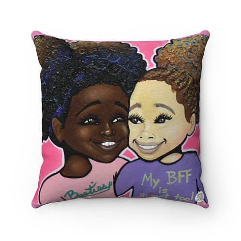 Besties Square Pillow