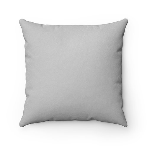 College Blue & White Square Pillow