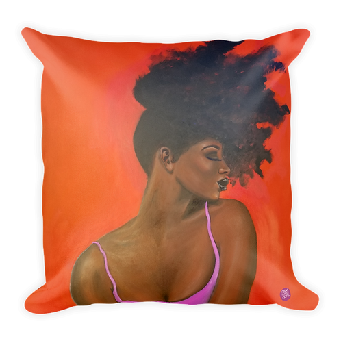 """Pretty (For A Dark Girl)"" Pillow"