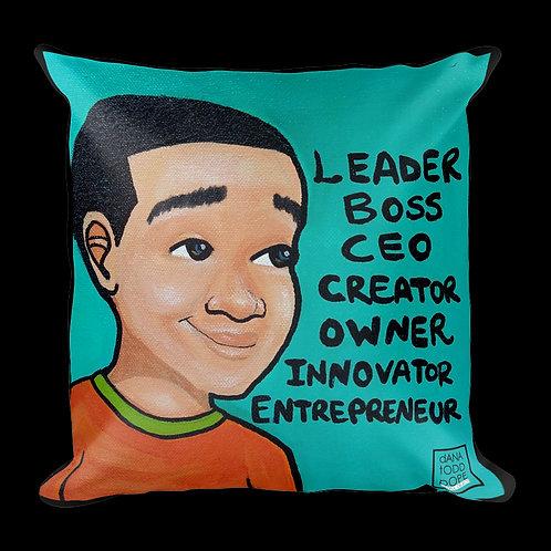 """""""Leader Boss C.E.O."""" pillow"""