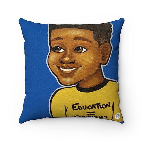 Education + Options (Boy) Square Pillow