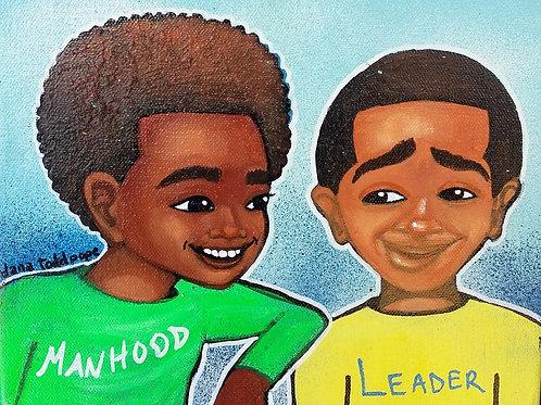 """""""Manhood and Leadership"""" Print"""