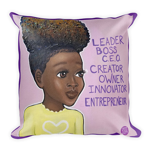 """L.B.C. Girl, III"" Pillow"
