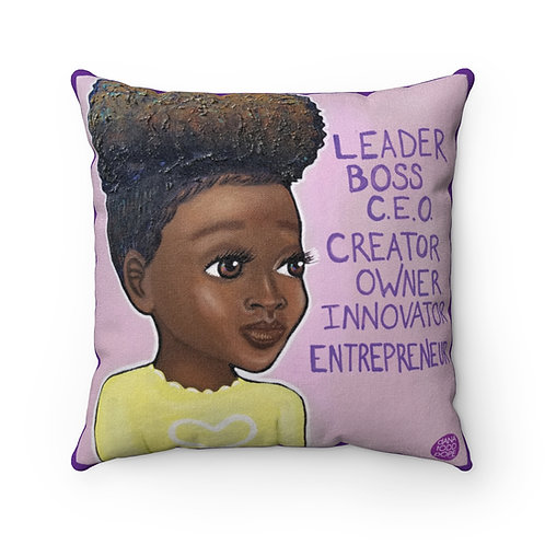 L.B.C. III Girl Square Pillow