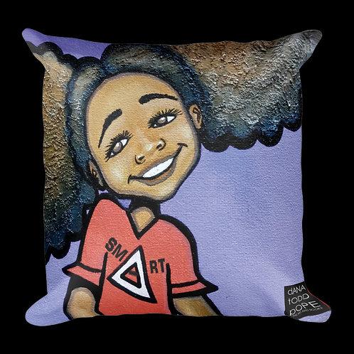 """Smart Girl, (Triangle)"" Pillow"
