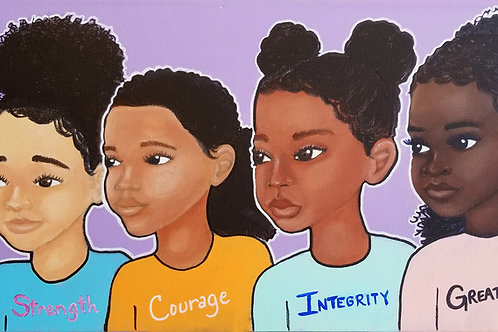 """Strength, Courage, Integrity, Greatness, II"" Original Painting"