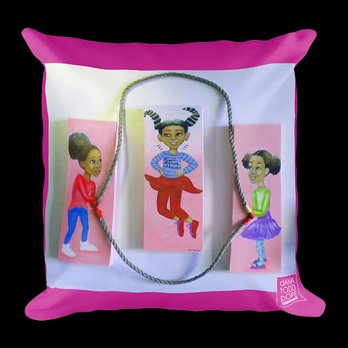 """Jumping to Higher Heights"" Pillow"