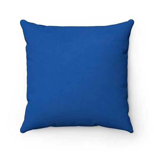 Fashionista (Blue & White) Square Pillow