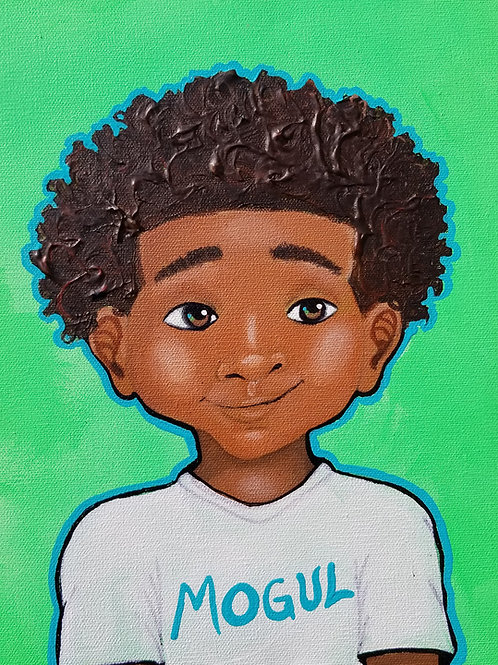 """Mini Mogul""- Original Painting"