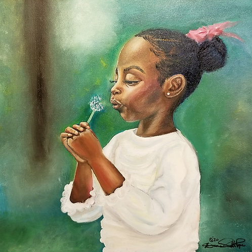 """Wish"" Oil Painting on Canvas"