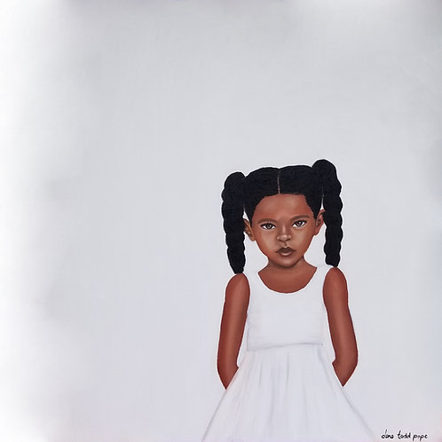 """""""Because Being Black in a White Space is a Real Thing, 4"""" Print on Paper"""