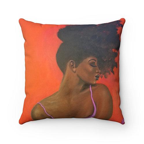 Pretty for a Dark Girl Square Pillow