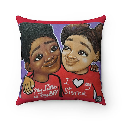 Sisterly Love Square Pillow