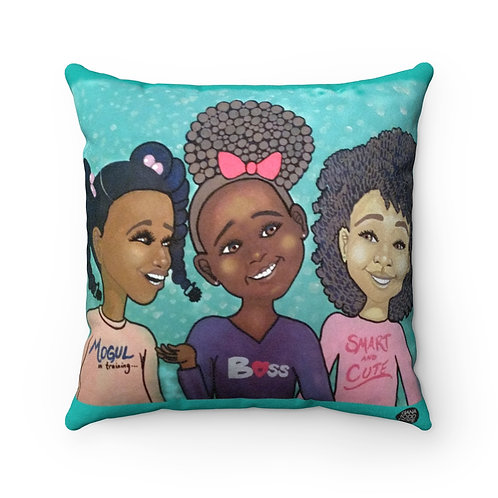 Girls Square Pillow