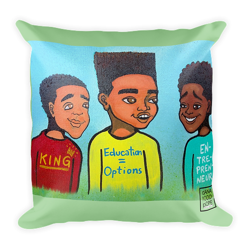KING, EDUCATED, ENTREPRENEUR Pillow