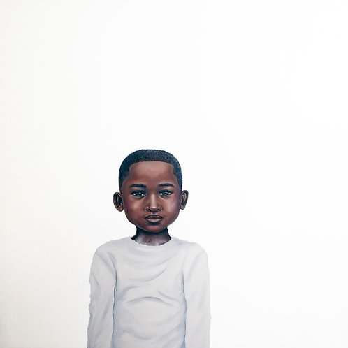 "Because Being Black in a White Space is a Real Thing, VI"" Oil on Canvas Original"
