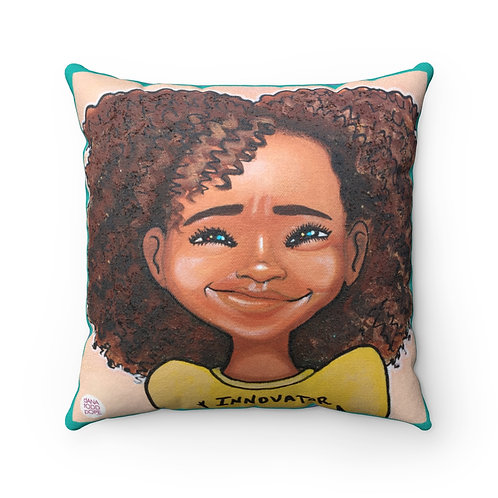 """3-Innovator"" Girl Pillow"""