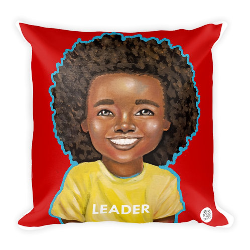 """All Smiles (Leader)"" Pillow"