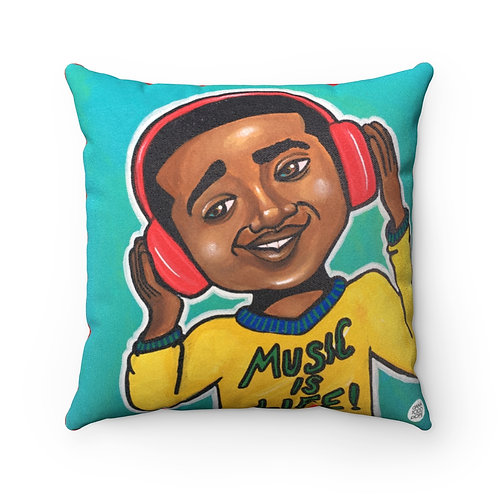 Four Kings IV (Music is Life) Square Pillow