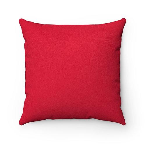 Fashionista (Red & White) Square Pillow