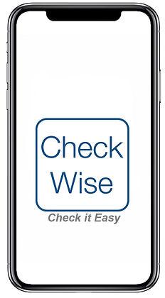 iPhoneX Frame mit CheckWise und Claim.jp