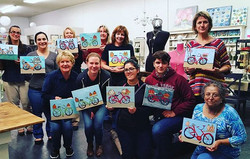 We have new artists in town, great job!!_#nava&co #painting #acrylic #downtownlodi #artclasses