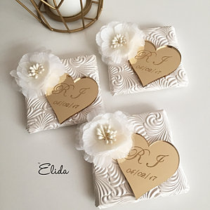 Elegant Decorated Wedding Chocolates With Lindt Chocolate Favors