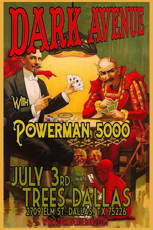 Dark Avenue with Powerman 5000 11x17 concert poster