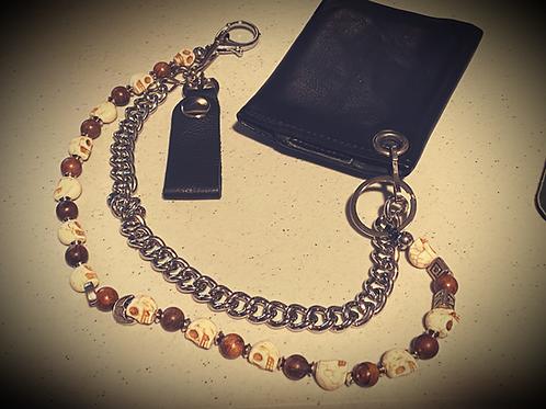 Dark Avenue Skull Wallet Chain