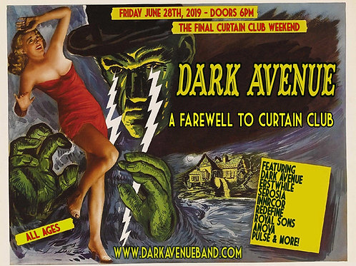 Farewell To Curtain concert poster (un-mounted)