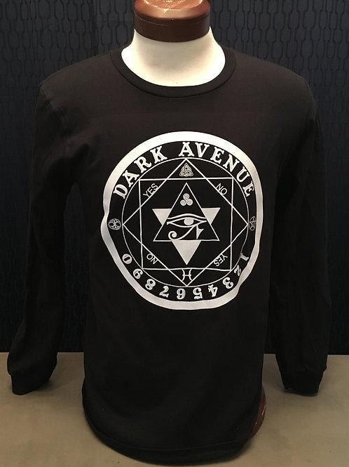 Men's Long Sleeve Circle Logo Black