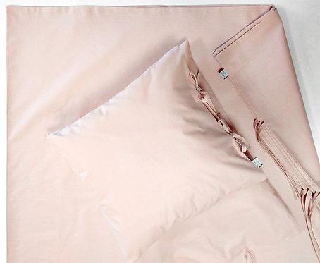 Różowa pościel klasyczna - Komplet kołdra + 2 poduszki - bawełna płaska