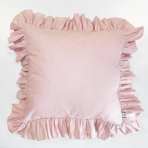 Różowa poszewka z falbanką na jasiek - bawełna płaska