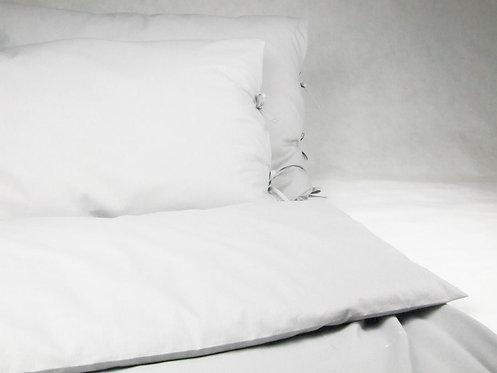 Szara pościel dla dzieci - Komplet kołdra + 1 poduszka - bawełna płaska