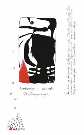 März - Buntspecht abstrakt