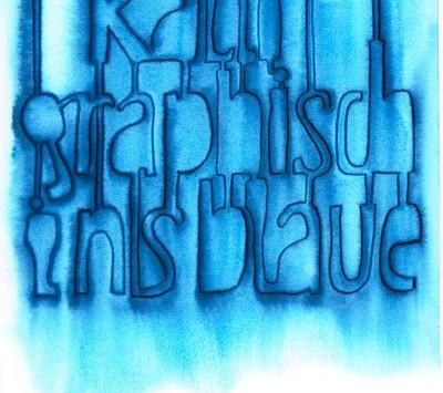 kalligraphisch ins blaue