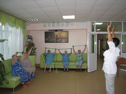 Занятие лечебной гимнастикой