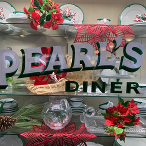 Eating at Miss Pearl's Diner
