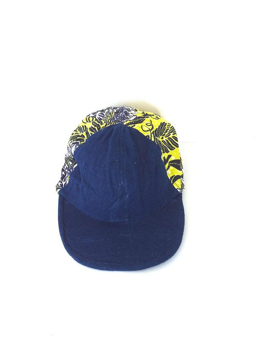 African Youth Apparel - peak headwear - Blue, Yellow & Black