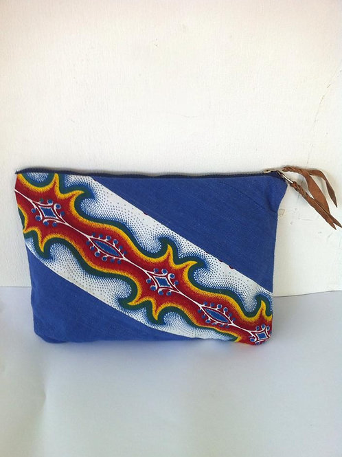 African Youth Apparel - Cratch bag - Blue, Red & Yellow