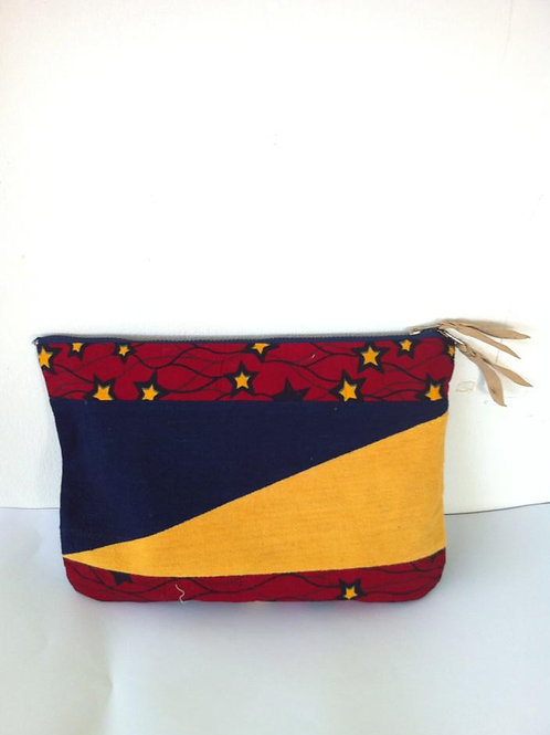 African Youth Apparel - Cratch bag - Blue Red & Yellow Star