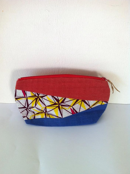 African Youth Apparel - Clutch bag - Red & Blue Star