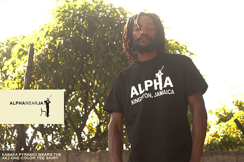 Alpha Boys School Tee - ALPHAWEAR JA TShirts - Black x White (size XL)