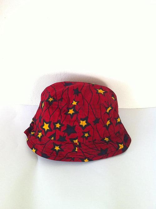 African Youth Apparel - Bushman headwear - Red, Orange & Blue Star